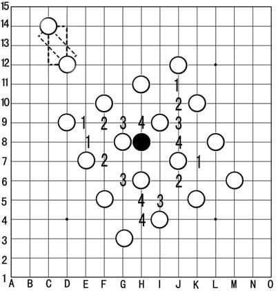 五子棋也如同其它棋一样讲究排兵布阵图片